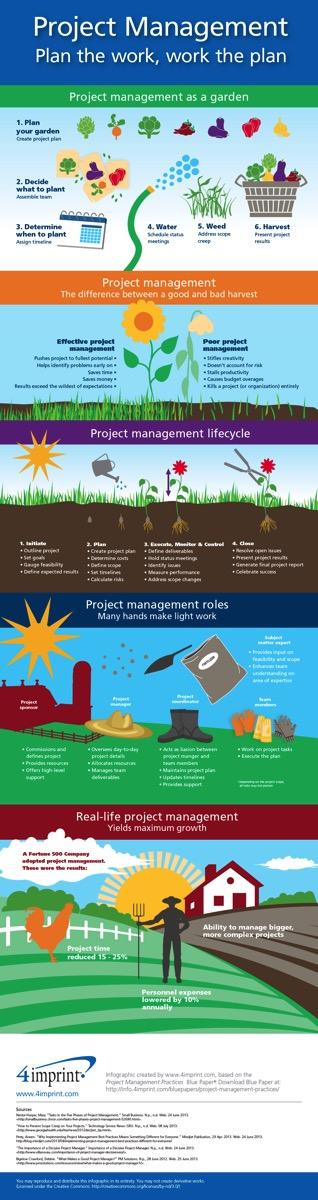 Infografica sull'utilità della pianificazione dei progetti