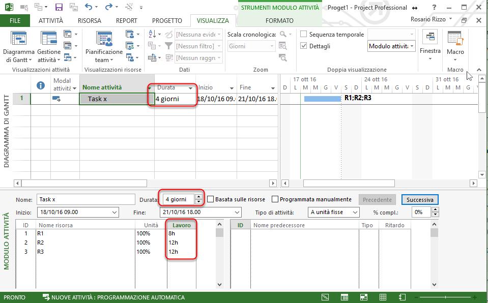 Gestione Attività con Microsoft Project
