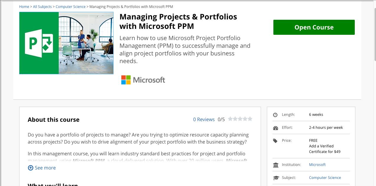Corso Project Portfolio Management