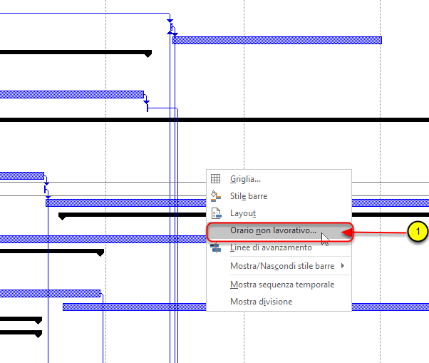 Visualizzare un periodo specifico nel diagramma di Gantt di Microsoft Project