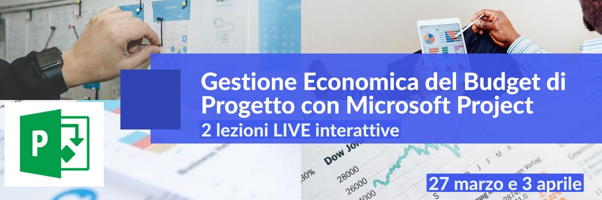 Corso LIVE Budgeting con Microsoft Project